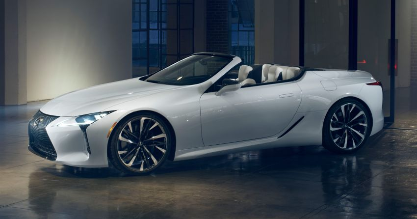 Lexus LC Convertible concept revealed, Detroit debut Image #909471