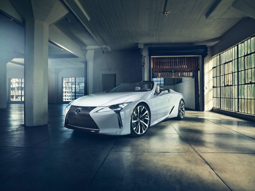 Lexus LC Convertible concept revealed, Detroit debut Image #909501