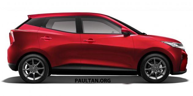 Perodua Axia generasi baru dari imej asal X-Concept