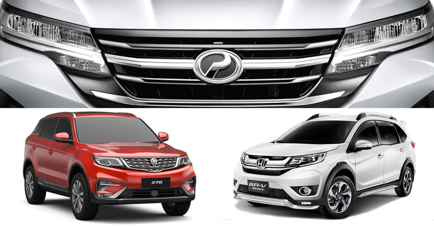 Perodua Aruz SUV specifications compared to the Honda BR-V, Toyota Rush and Proton X70 in Malaysia Image #906752
