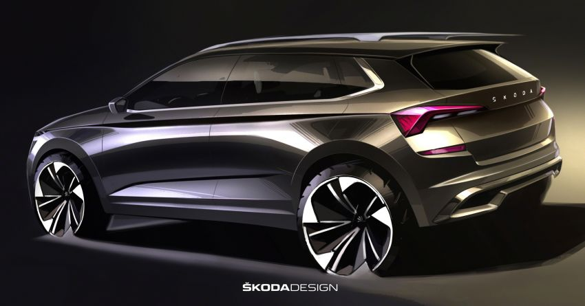 New Skoda Kamiq sketches revealed, debut in March Image #918093