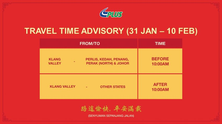 PLUS travel time advisory for North-South Expressway Image #917582