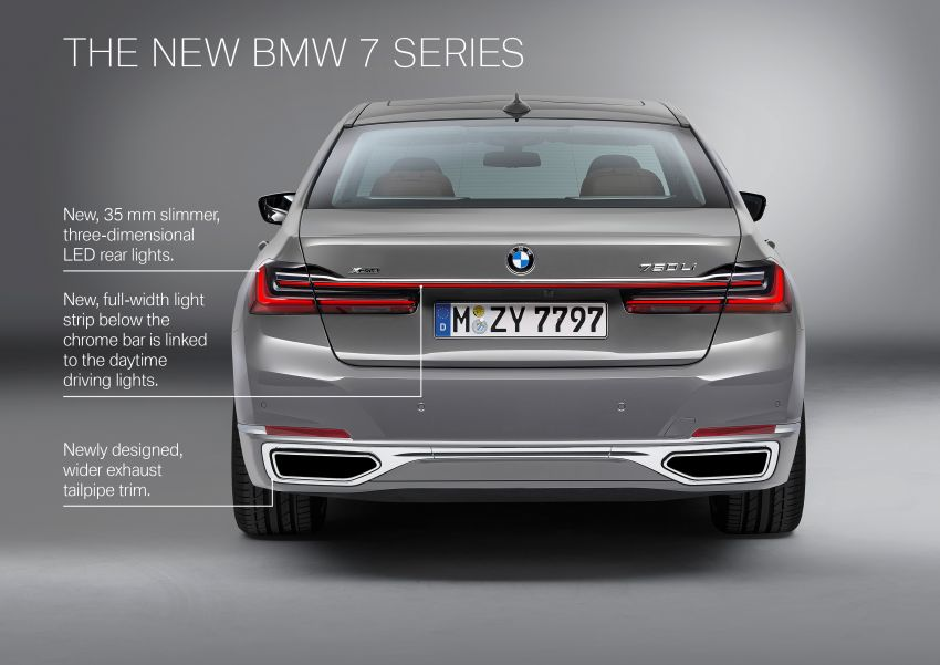 G11/G12 BMW 7 Series LCI debuts – revamped design, new I6 hybrid and V8 powertrains, updated tech Image #912383