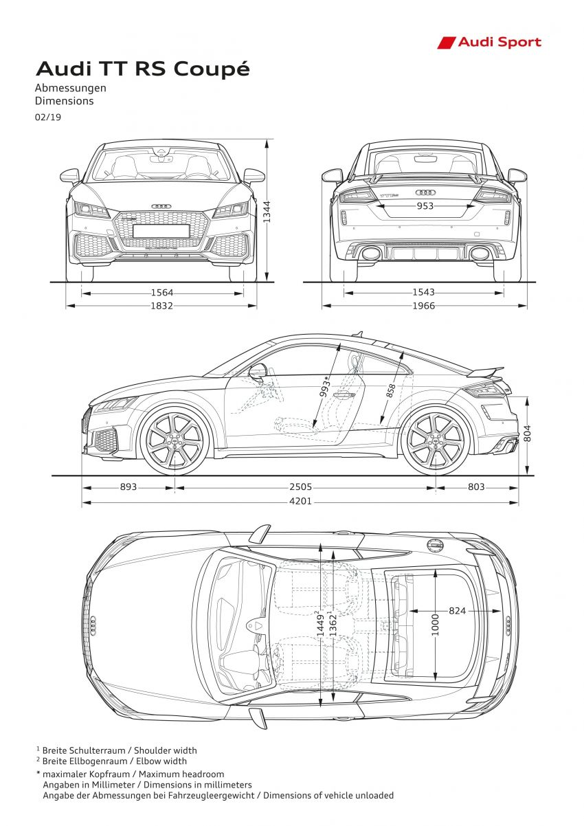 2019 Audi TT RS facelift – new look, no extra power Image #919854