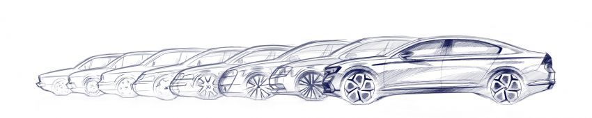 B8 Volkswagen Passat facelift revealed – new MIB3 infotainment and IQ.Drive assistance systems Image #919192