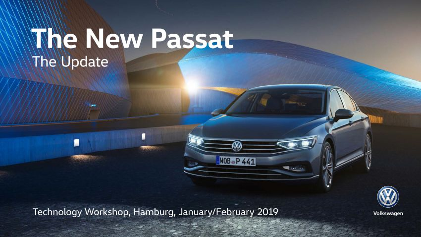 B8 Volkswagen Passat facelift revealed – new MIB3 infotainment and IQ.Drive assistance systems Image #919193