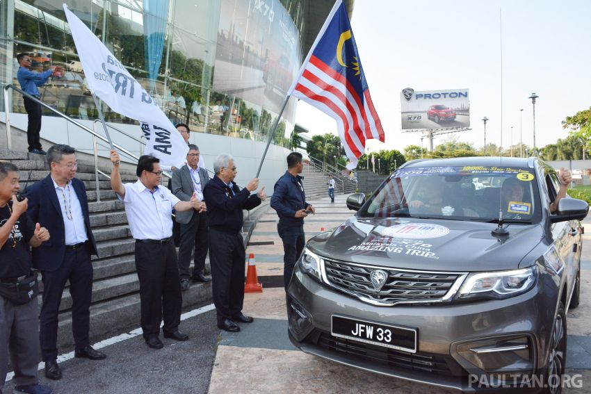 Proton X70 owners embark on 13,000-km, 33-day road trip to visit Geely's headquarters in Hangzhou, China Image #926005