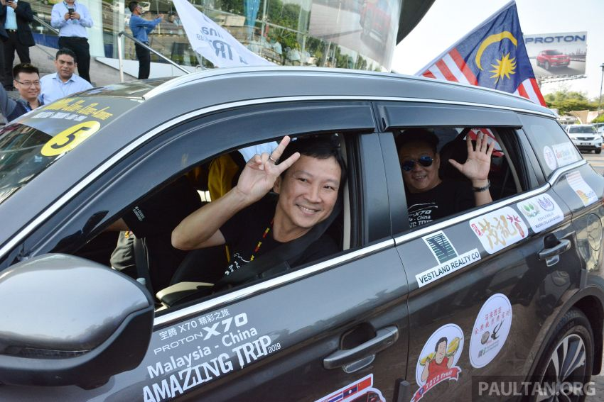 Proton X70 owners embark on 13,000-km, 33-day road trip to visit Geely's headquarters in Hangzhou, China Image #926010