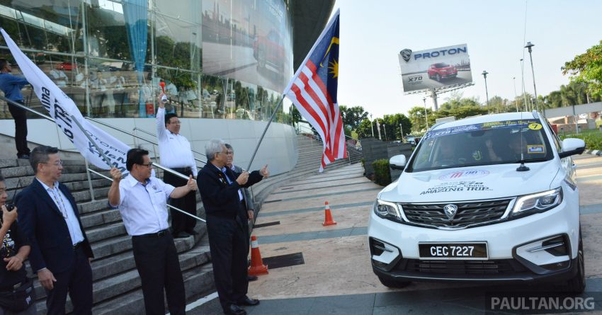 Proton X70 owners embark on 13,000-km, 33-day road trip to visit Geely's headquarters in Hangzhou, China Image #926011