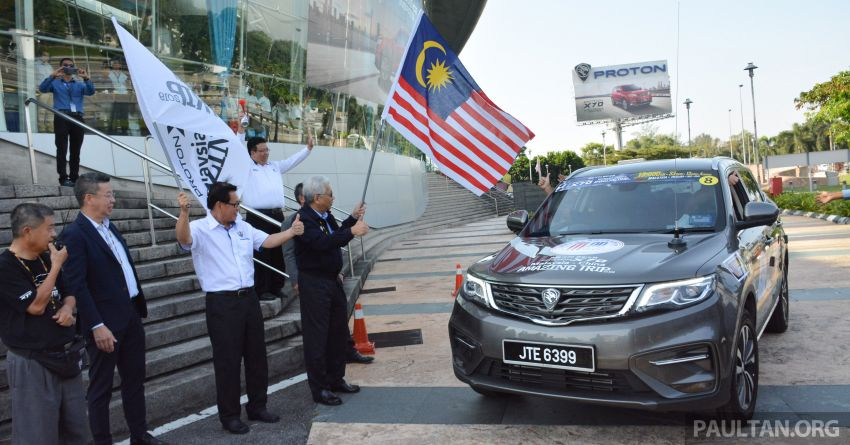 Proton X70 owners embark on 13,000-km, 33-day road trip to visit Geely's headquarters in Hangzhou, China Image #926013