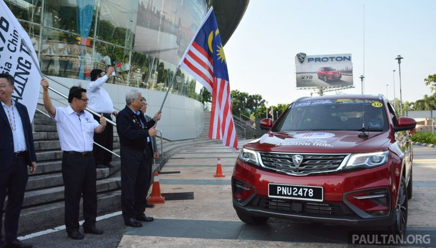 Proton X70 owners embark on 13,000-km, 33-day road trip to visit Geely's headquarters in Hangzhou, China Image #926014