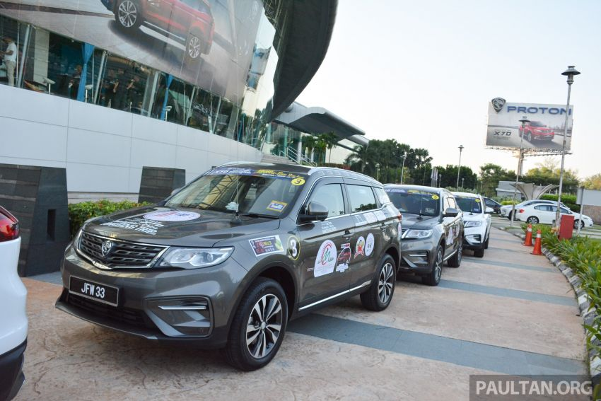Proton X70 owners embark on 13,000-km, 33-day road trip to visit Geely's headquarters in Hangzhou, China Image #925989