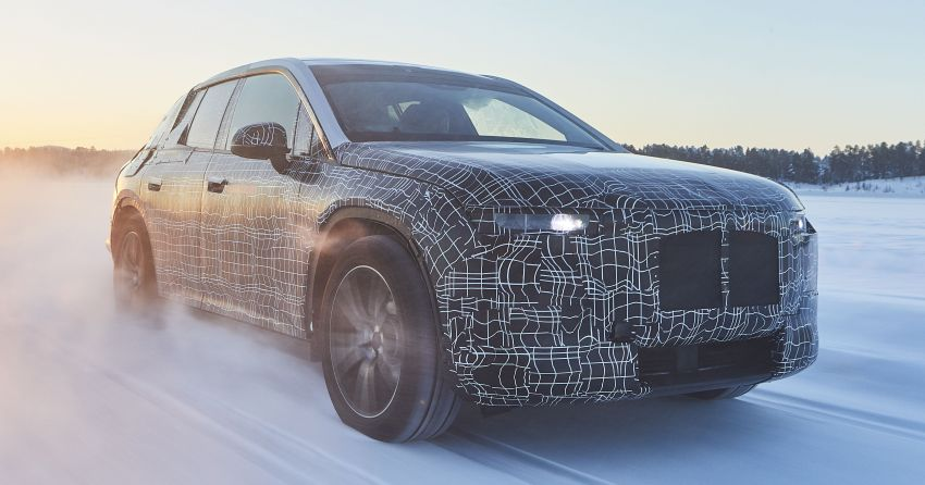 BMW iNEXT shown undergoing cold-weather testing Image #920625