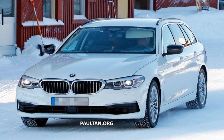 SPIED: BMW 5 Series Touring plug-in hybrid testing Image #920492