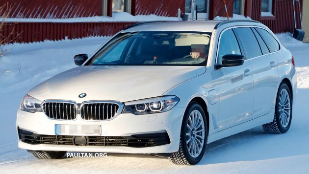 Spied Bmw 5 Series Touring Plug In Hybrid Testing