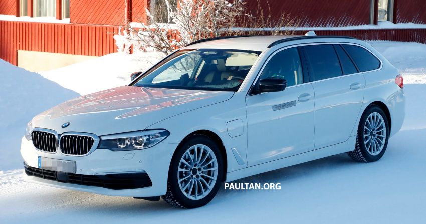 SPIED: BMW 5 Series Touring plug-in hybrid testing Image #920494