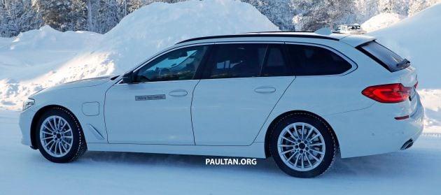 Spied Bmw 5 Series Touring Plug In Hybrid Testing