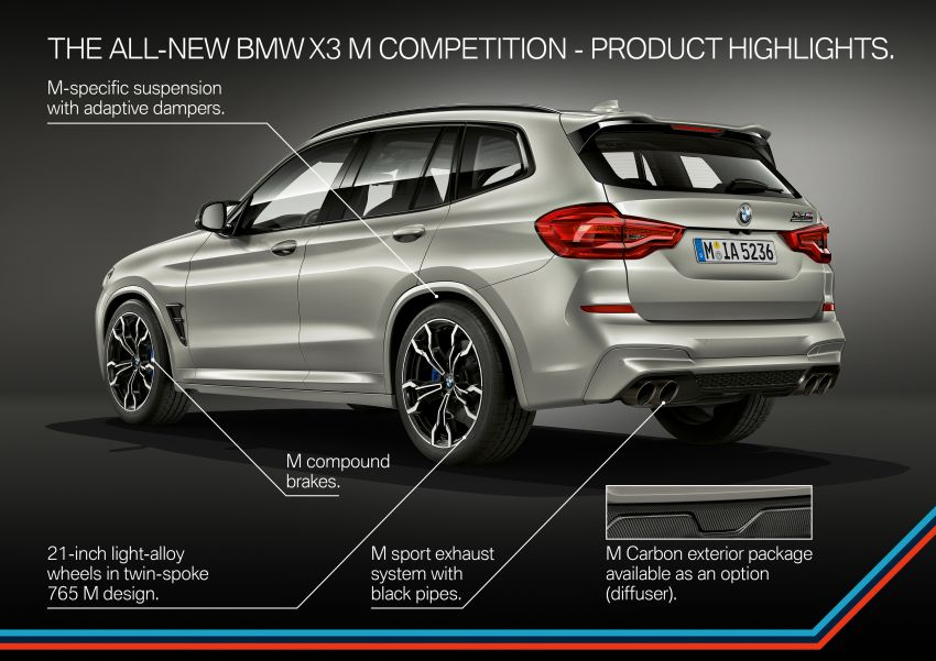 F97 BMW X3 M, F98 X4 M revealed with up to 510 hp Image #921539