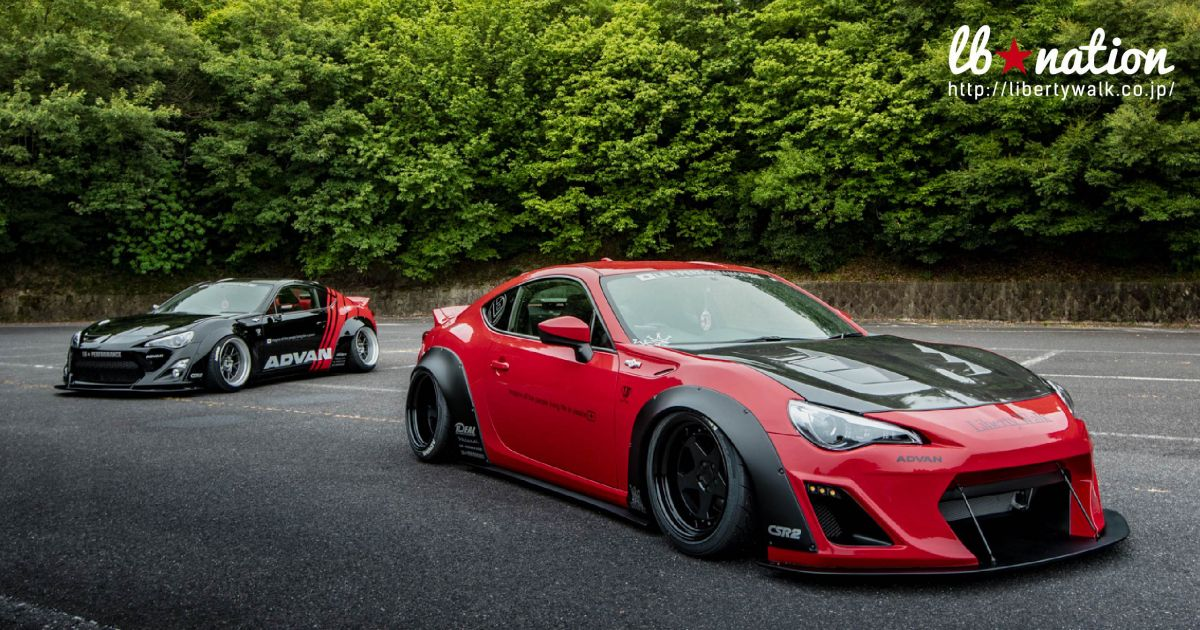 Toyota 86 And Subaru Brz Get The Liberty Walk Touch