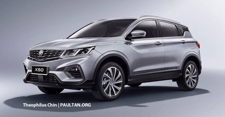 Proton X50 SUV rendered with Infinite Weave grille Image #924533