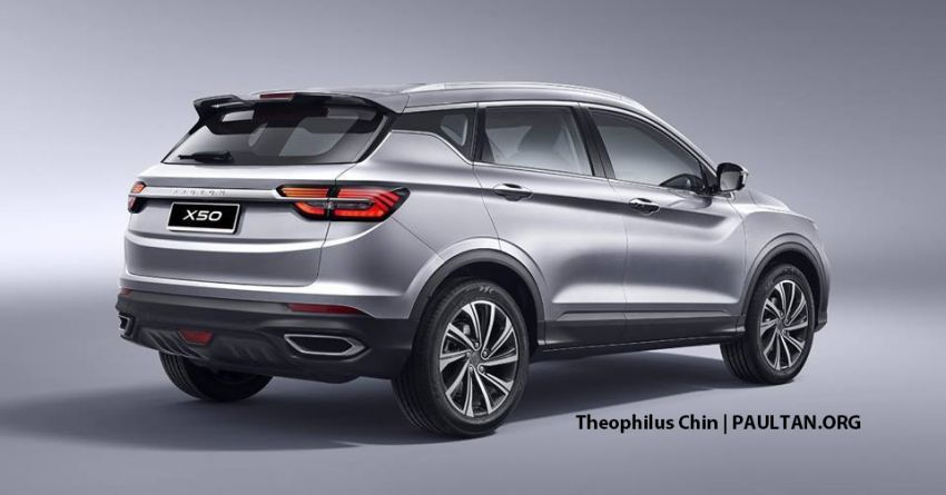 Proton X50 SUV rendered with Infinite Weave grille Image #924532