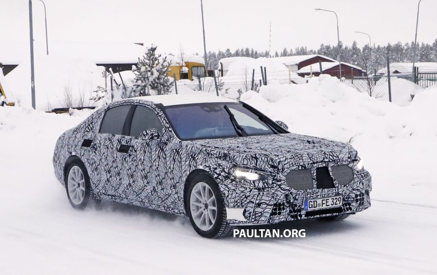 SPYSHOTS: W223 Mercedes-Benz S-Class spotted testing again – interior reveals large touchscreen Image #922692