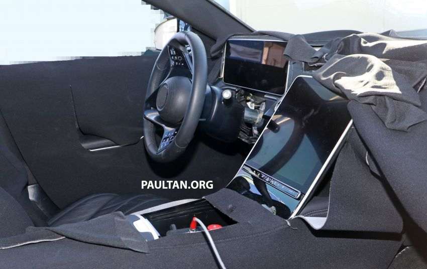 SPYSHOTS: W223 Mercedes-Benz S-Class spotted testing again – interior reveals large touchscreen Image #922705