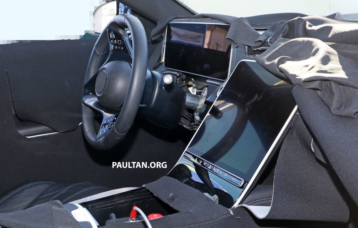 SPYSHOTS: W223 Mercedes-Benz S-Class spotted testing again – interior reveals large touchscreen ...