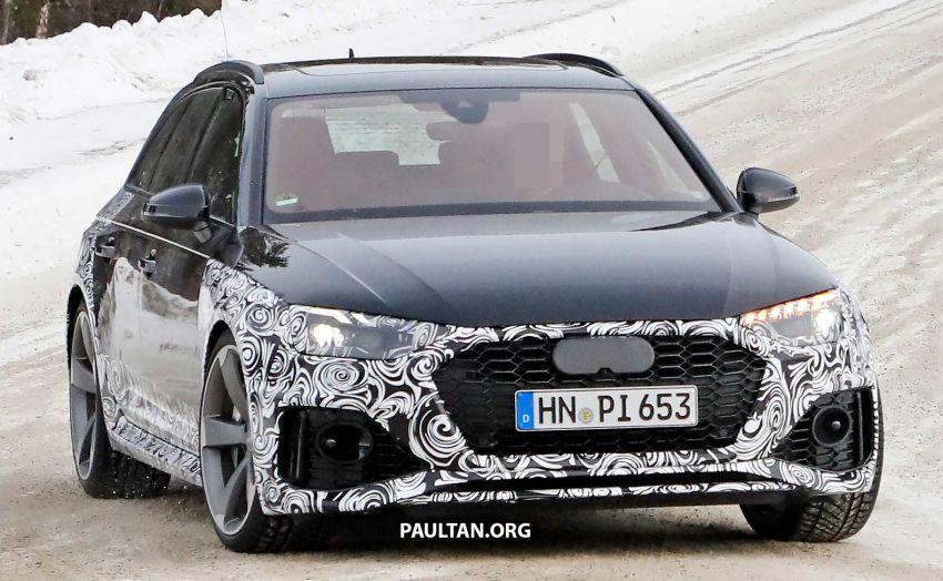 SPYSHOTS: Audi RS4 facelift running winter tests Image #934751
