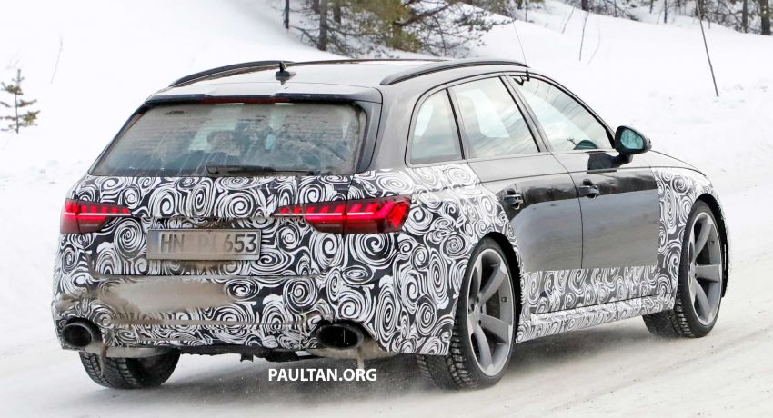 SPYSHOTS: Audi RS4 facelift running winter tests Image #934763
