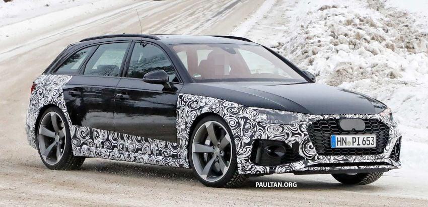 SPYSHOTS: Audi RS4 facelift running winter tests Image #934753
