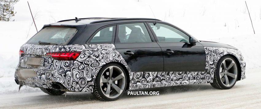 SPYSHOTS: Audi RS4 facelift running winter tests Image #934759