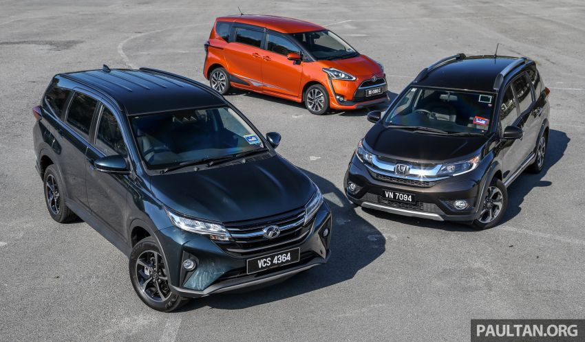 Driven Web Series 2019: affordable seven-seaters – new Perodua Aruz vs Honda BR-V vs Toyota Sienta Image #928572