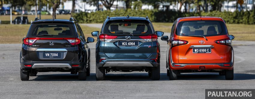 Driven Web Series 2019: affordable seven-seaters – new Perodua Aruz vs Honda BR-V vs Toyota Sienta Image #928582