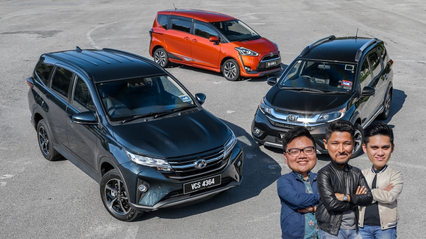 Driven Web Series 2019: affordable seven-seaters – new Perodua Aruz vs Honda BR-V vs Toyota Sienta Image #928567
