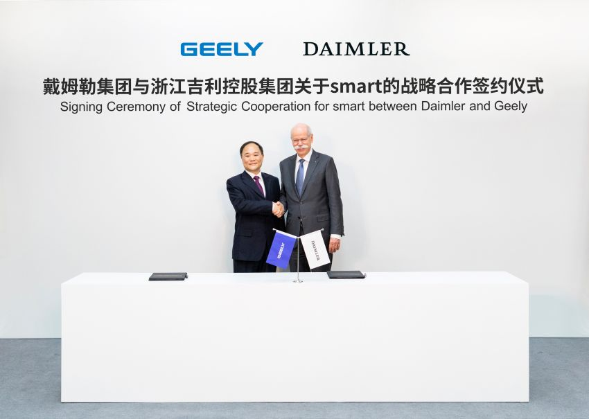 Geely, Daimler sign joint venture to develop smart Image #940493