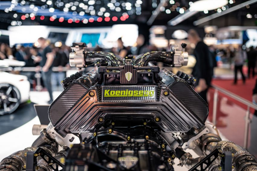 Koenigsegg Jesko debuts in Geneva – 5.0L twin-turbo V8; 1,600 hp, 1,500 Nm; Light Speed Transmission Image #935341
