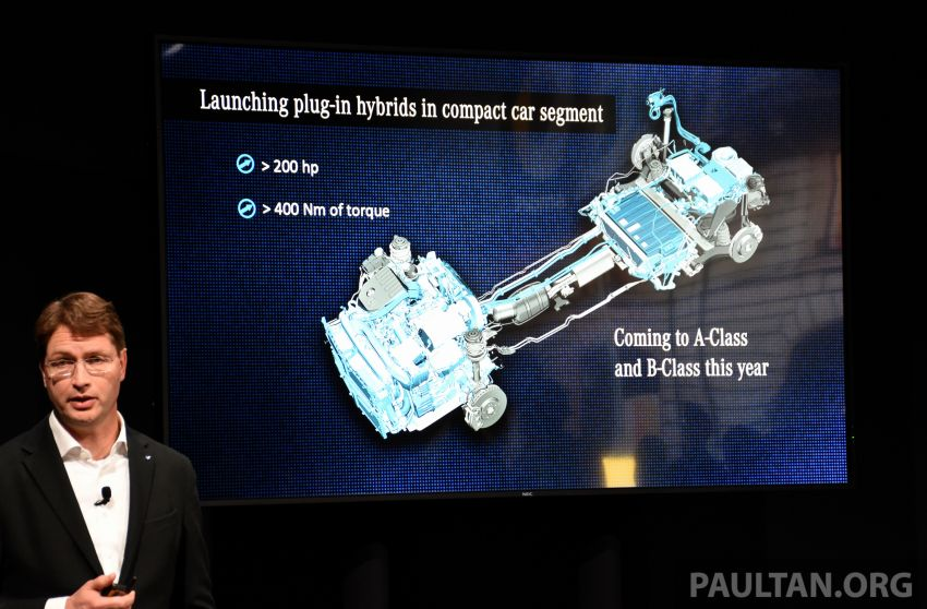 Mercedes-Benz PHEV electric-only range to increase to 100 km – plug-in A-Class and B-Class due this year Image #929544