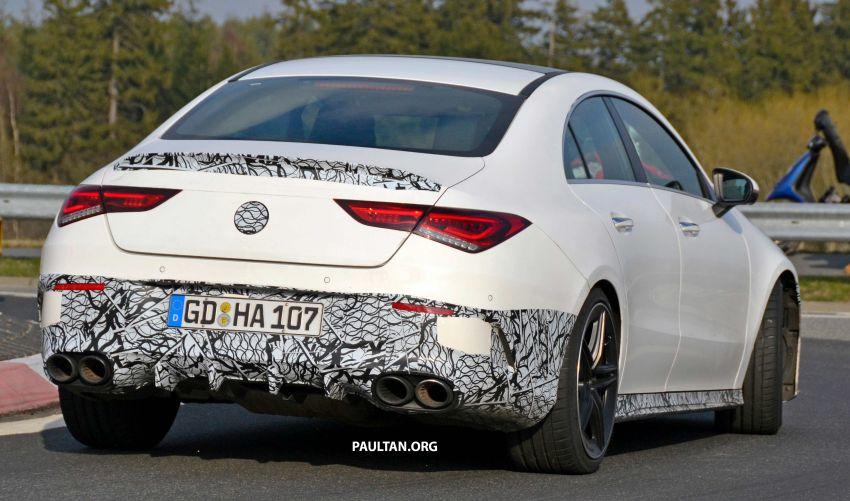 SPYSHOTS: Mercedes-AMG CLA45 seen in less camo Image #939793