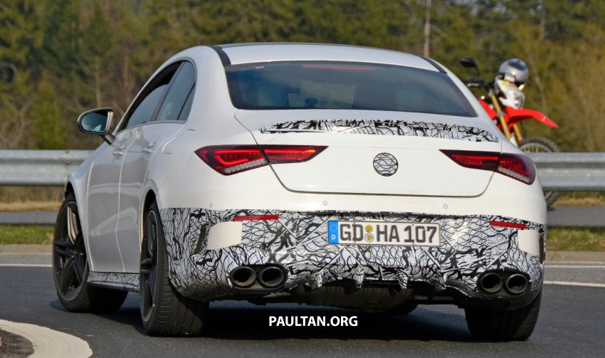 SPYSHOTS: Mercedes-AMG CLA45 seen in less camo Image #939794