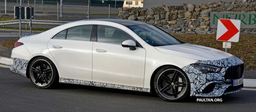 SPYSHOTS: Mercedes-AMG CLA45 seen in less camo Image #939799
