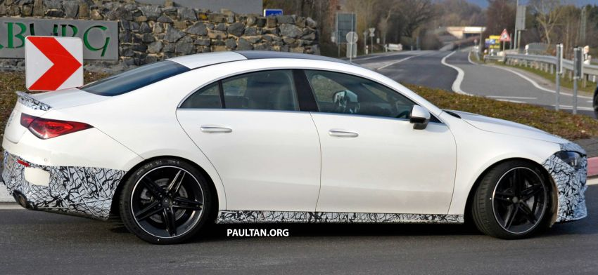 SPYSHOTS: Mercedes-AMG CLA45 seen in less camo Image #939801