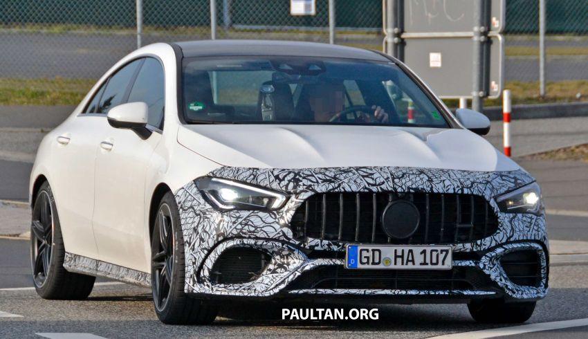 SPYSHOTS: Mercedes-AMG CLA45 seen in less camo Image #939785