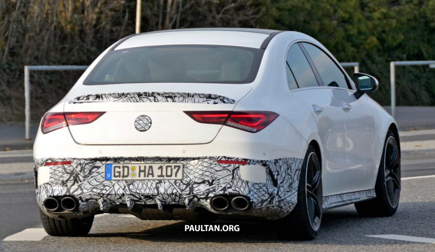 SPYSHOTS: Mercedes-AMG CLA45 seen in less camo Image #939804