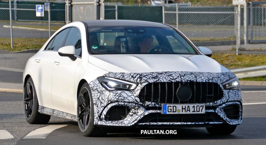 SPYSHOTS: Mercedes-AMG CLA45 seen in less camo Image #939786