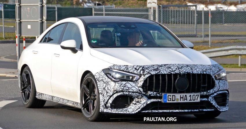 SPYSHOTS: Mercedes-AMG CLA45 seen in less camo Image #939787