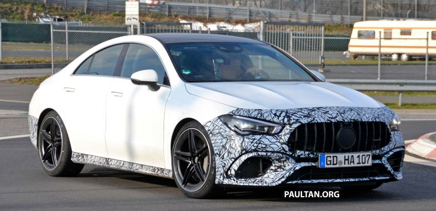 SPYSHOTS: Mercedes-AMG CLA45 seen in less camo Image #939788