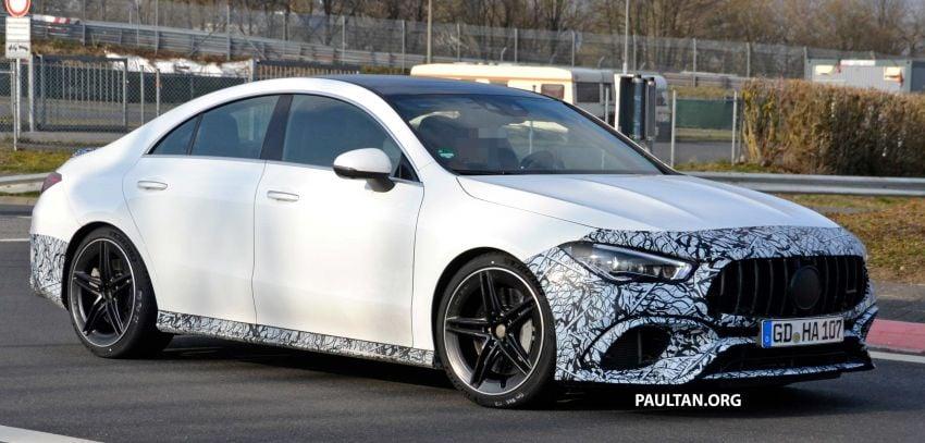 SPYSHOTS: Mercedes-AMG CLA45 seen in less camo Image #939789