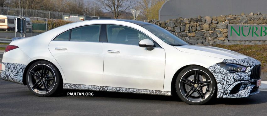 SPYSHOTS: Mercedes-AMG CLA45 seen in less camo Image #939790