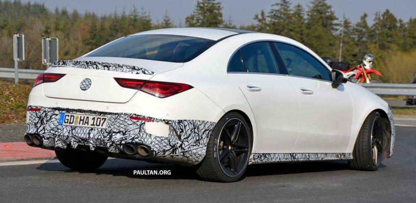 SPYSHOTS: Mercedes-AMG CLA45 seen in less camo Image #939792